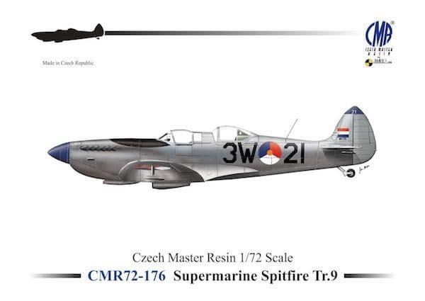 Czech Master Resin 1/72 Supermarine Spitfire Tr.9 Trainer # 72-176