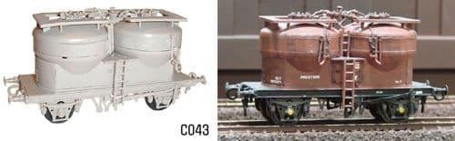 Dapol 1/76 Twin Silo Wagon # C43