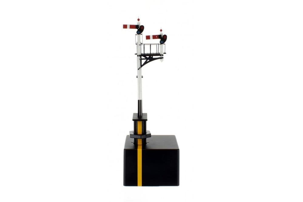 Dapol - Junction Signal GWR Right Hand with Two Arms, Shorter Post to Right # 4L-001-005