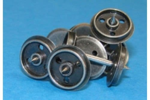 Dapol OO Gauge Disc Wheels on Axles (20) # WHEELDISC