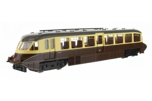 Dapol OO Gauge Streamlined Railcar 16 Lined Chocolate & Cream GWR Twin Cities # 4D-011-009D