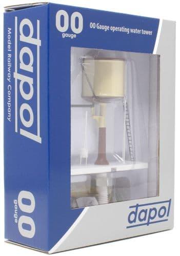 Dapol - OO Gauge Water Tower Chocolate & Cream Flat Top # 4A-002-006