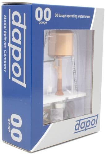 Dapol - OO Gauge Water Tower Light & Dark Stone Conical Top # 4A-002-004