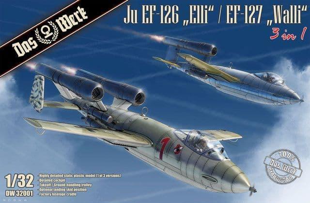 """Das Werk 1/32 Junkers Ju EF-126 """"Elli"""" / EF-127 """"Walli"""" (3 in 1) # DW3201"""