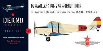 Dekno 1/72 De Havilland DH-87A Hornet Moth in the Spanish Civil War # CW720200