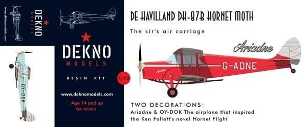 Dekno 1/72 de Havilland DH-87B Hornet Moth # GA720601