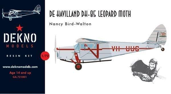 Dekno 1/72 de Havilland DH.85 Leopard Moth Nancy Bird-Walton # GA721001