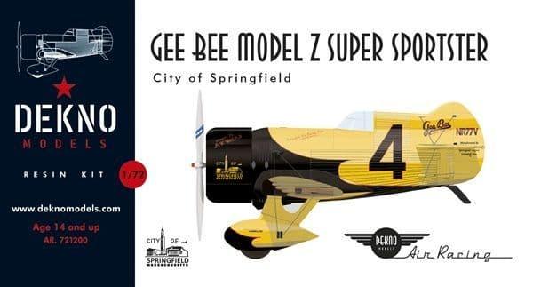Dekno 1/72 Gee Bee Z Super Sportster 'City of Springfield' # AR721200
