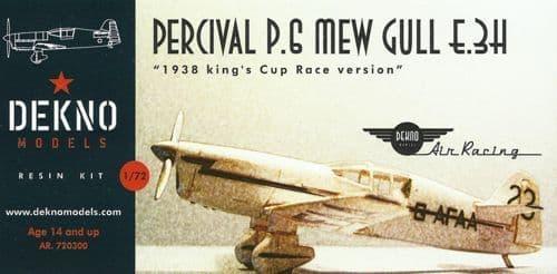 Dekno 1/72 Percival P.6 Mew Gull # AR720300