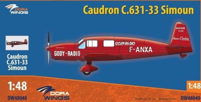 Dora Wings 1/48 Caudron C.631-33 Simoun # 48040