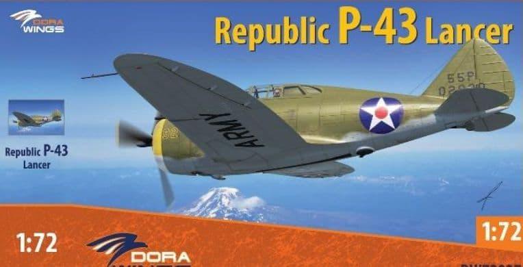 Dora Wings 1/72 Republic P-43 Lancer # 72027