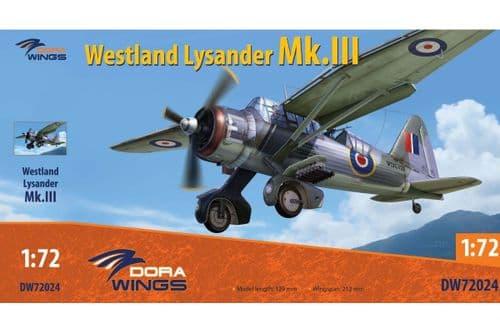 Dora Wings 1/72 Westland Lysander Mk.III # 72024