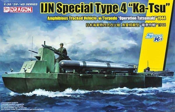 """Dragon 1/35 IJN Special Type 4 """"Ka-Tsu"""" with Torpedo Operation Tatsumaki 1944 # 6849"""