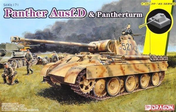 Dragon 1/35 Panther Ausf.D Tank & Pantherturm # 6940