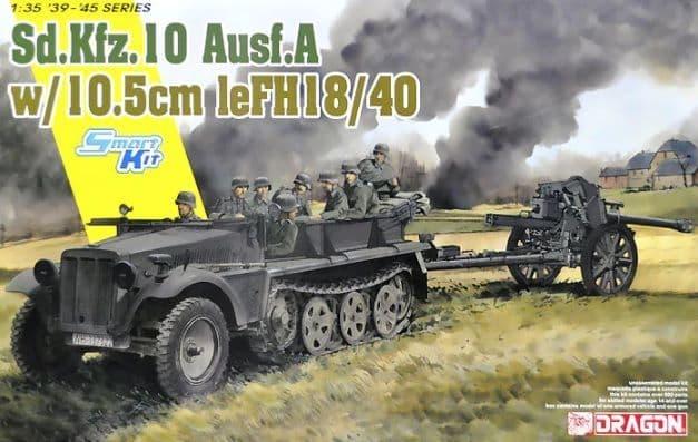 Dragon 1/35 Sd.Kfz.10 Ausf.A + 10.5cm le.FH.18/40 # 6939