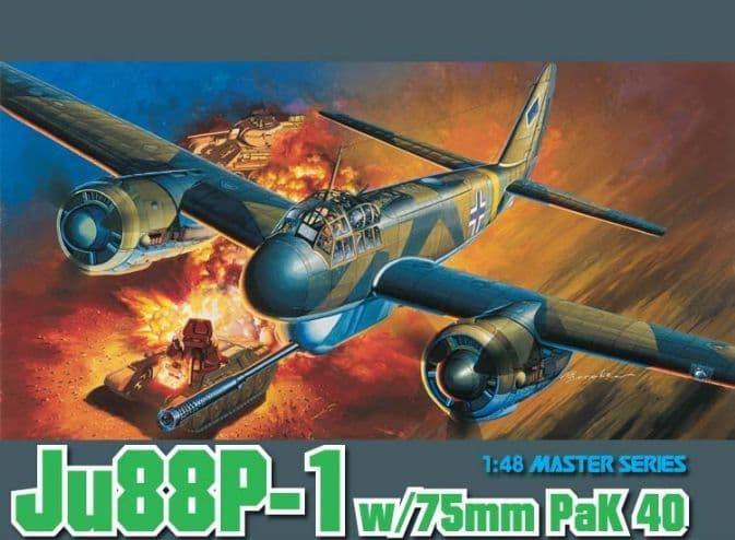 Dragon 1/48 Junkers Ju-88P-1 w/75mm PaK 40 # 5543