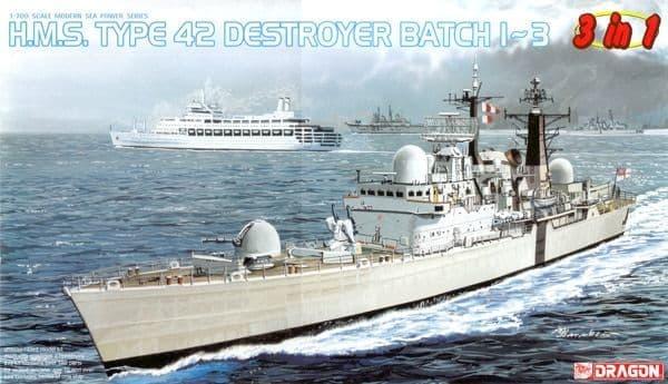 Dragon 1/700 H.M.S. Type 42 Destroyer # 7152