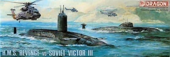 Dragon 1/700 HMS Revenge V Soviet Victor III # 7007