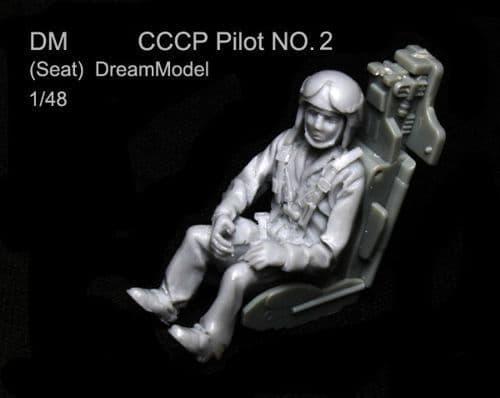 Dream Model 1/48 CCCP Pilot No. 2 (Seated) # 0406