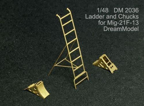 Dream Model 1/48 Mikoyan MiG-21F-13 Ladder and Chocks # 2036