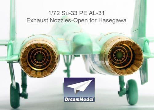 Dream Model 1/72 Sukhoi Su-33 AL-31 Exhaust Nozzles Open # 0531