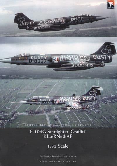 Dutch Decal 1/32 'Graffiti' Lockheed F-104G Starfighter KLu/RNethAF # 32015