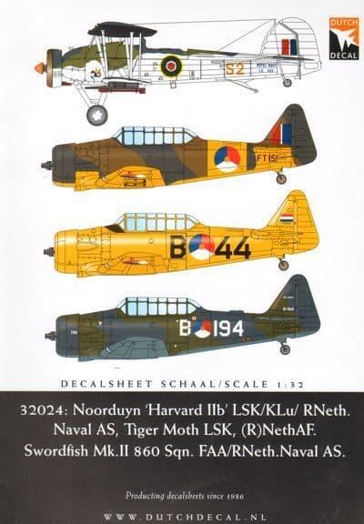 Dutch Decal 1/32 Norduyn Harvard IIb' LSK/KLu/ RNeth. # 32024