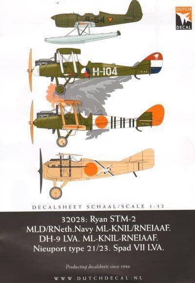 Dutch Decal 1/32 Ryan STM-2 RNethNavy/ RNEIAAF. # 32028