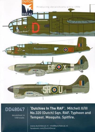 """Dutch Decal 1/48 """"Dutchies In The RAF"""" B-25 Mitchells # 48047"""