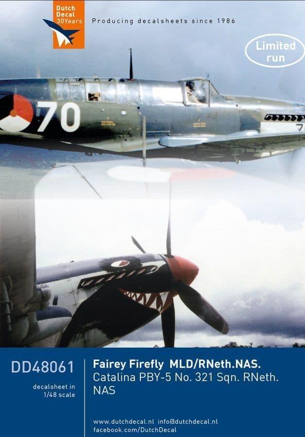 Dutch Decal 1/48 Fairey Firefly, PBY-5 RNeth Navy # 48061