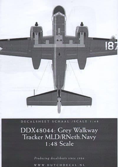 Dutch Decal 1/48 Grey Walkway Tracker MLD/RNeth.Navy # X48044