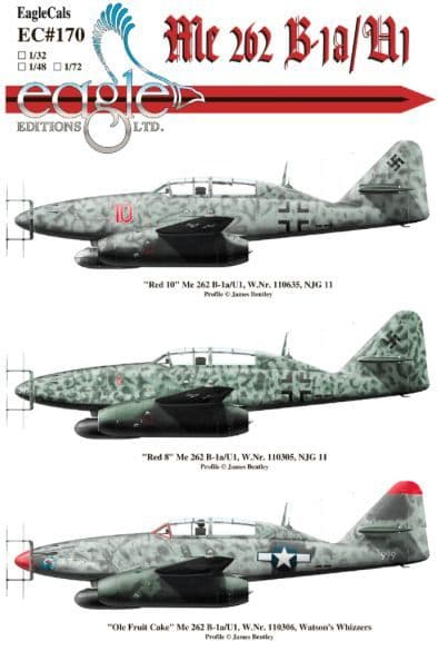 Eagle Cal 1/32 Messerschmitt Me-262B-1A/U1 Nightfighters of NJG 11 # 32170