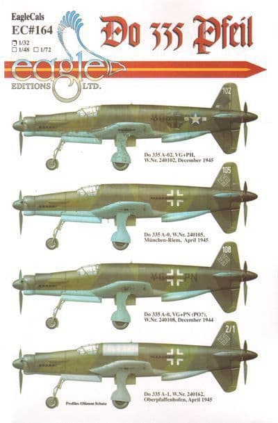 Eagle Cal 1/72 Dornier Do 335 # 72164