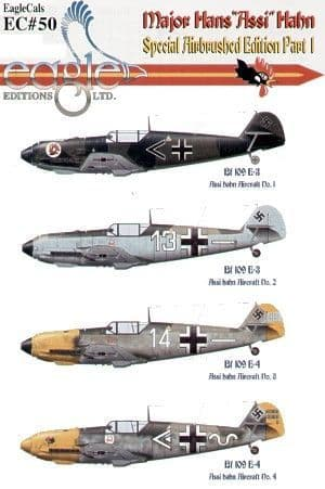 Eagle Cal 1/72 Major Hans 'Assi' Hahn Part 1 Messerschmitt Bf-109E # 72050