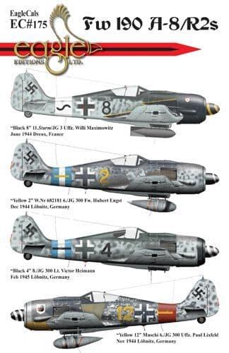 Eagle Cal Decals 1/32 Focke-Wulf Fw-190A-8/R2s # 32175