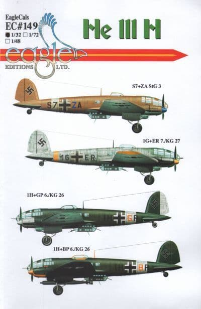 Eagle Cal Decals 1/32 Heinkel He111H # 32149