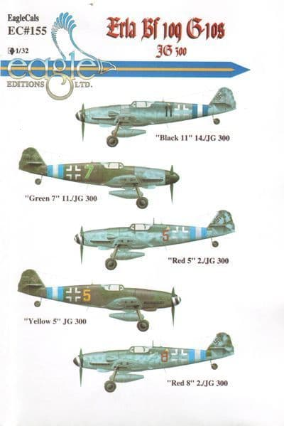 Eagle Cal Decals 1/32 Messerschmitt Bf-109G-10 Erla # 32155
