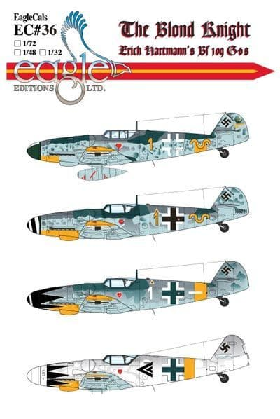 Eagle Cal Decals 1/32 Messerschmitt Bf-109G-6 # 32036