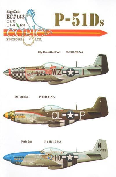 Eagle Cal Decals 1/32 North-American P-51D Mustang Part 4 # 32142