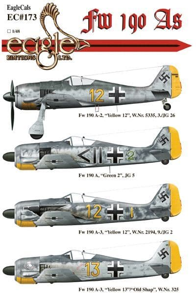 Eagle Cal Decals 1/48 Focke-Wulf Fw-190 # 48173