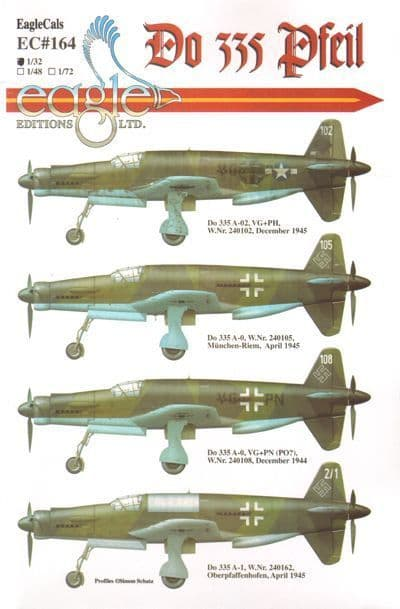 Eagle Cal Decals1/32 Dornier Do 335 # 32164