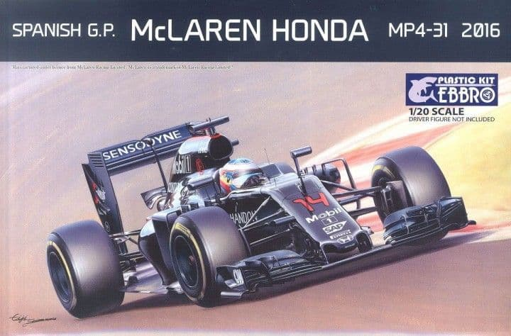 Ebbro 1/20 Spanish G.P. McLaren Honda MP4-31 2016 # 018