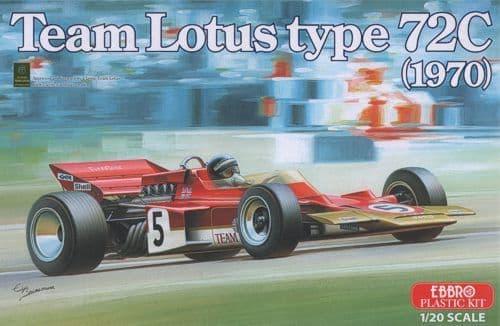 Ebbro 1/20 Team Lotus Type 72C (1970) # 001