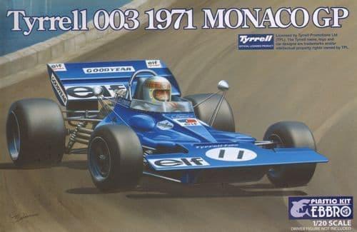 Ebbro 1/20 Tyrrell 003 1971 Monaco GP # 007