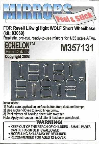 Echelon FD 1/35 LKw Gl leicht Wolf Mirrors # M357131