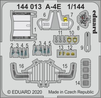 Eduard 1/144 Douglas A-4E Skyhawk Detailing Set # 144013