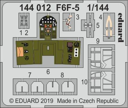 Eduard 1/144 Grumman F6F-5 Hellcat Detailing Set # 144012