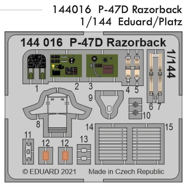 Eduard 1/144 Republic P-47D Razorback Detailing Set # 144016