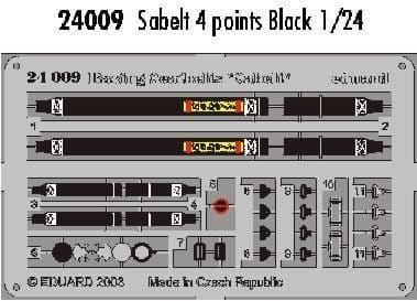 Eduard 1/24 Black Sabelt 4 points # 24009