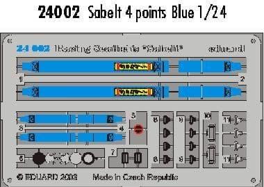 Eduard 1/24 Blue Sabelt 4 point seatbelts # 24002